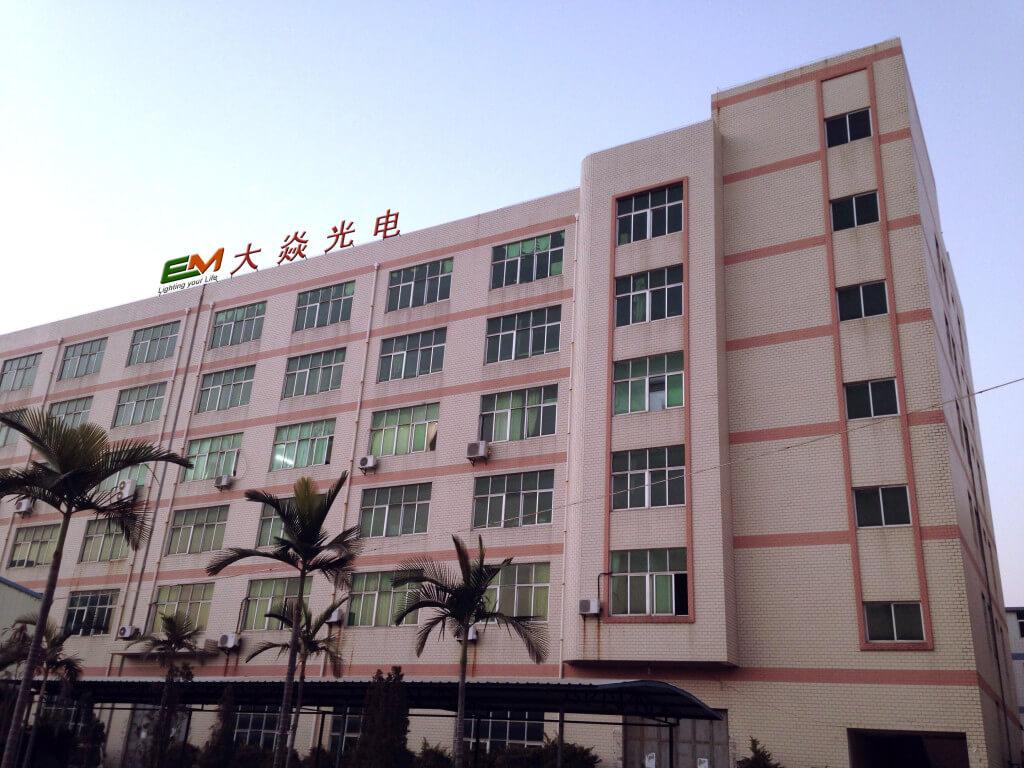 Jinjiang dayan LED lighting company EM building