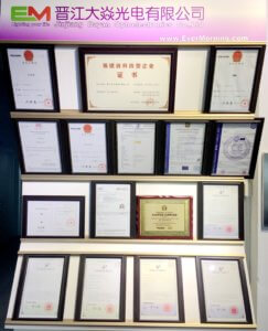 certificates wall