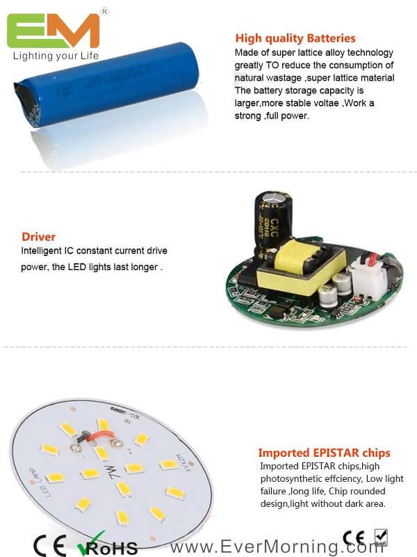 emergency LED bulb light