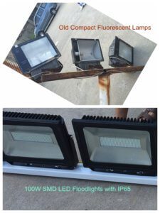100W SMD LED floodlights with IP65