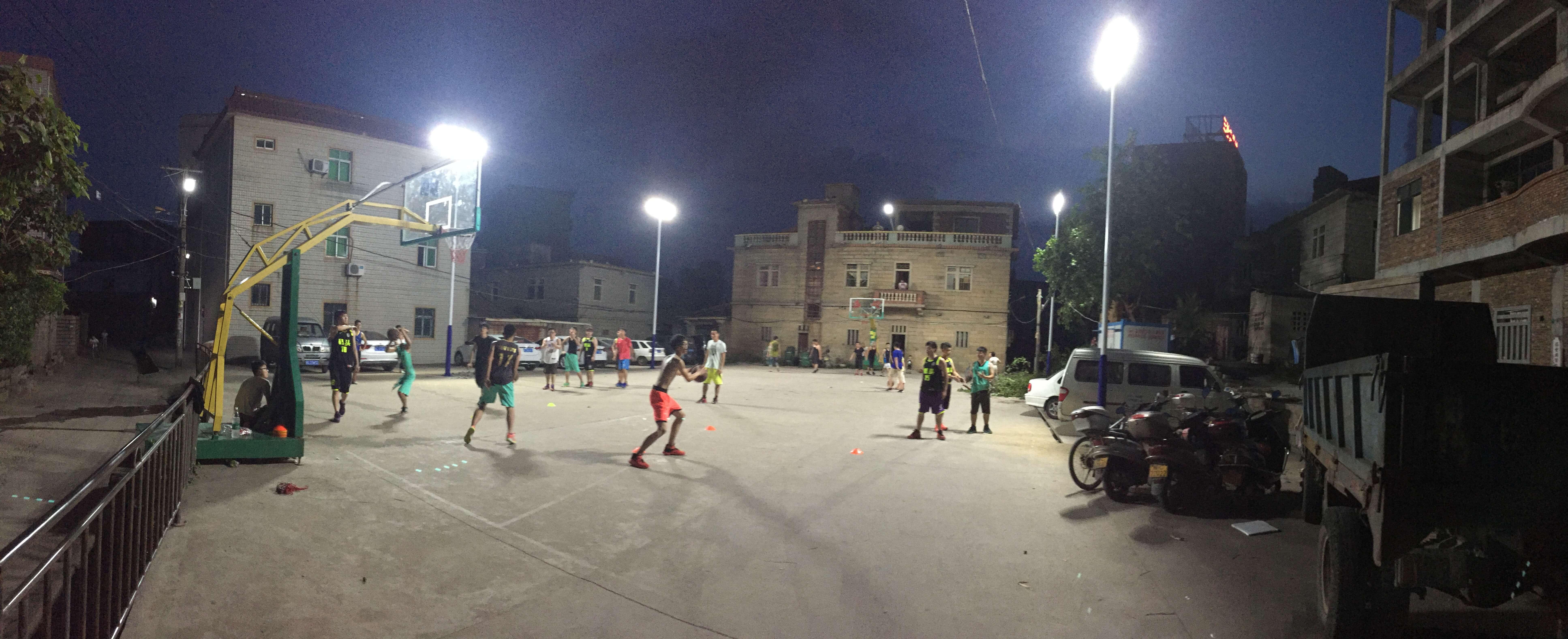 Installation Of Outdoor Led Basketball Court Lights Dayan