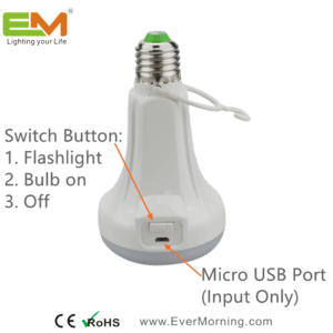 C701 rechargeable Smart led bulb with flashlight (5)