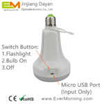 C702 rechargeable led bulb with flashlight (4)